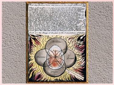 D'après And the Divine Voice Was Heard, manuscrit Vala dit Les Quatre Zoas, de William Blake, 1796-1807, eau-forte, début XIXe siècle. (Marsailly/Blogostelle)