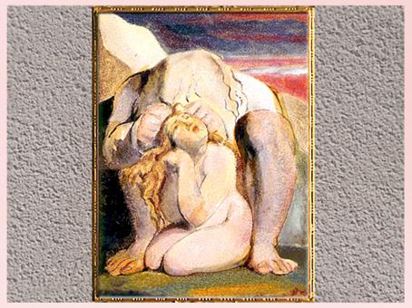D'après Urizen et Ahania, Livre d'Ahania, frontispice, de William Blake, 1795, copie A, fin XVIIIe siècle. (Marsailly/Blogostelle)