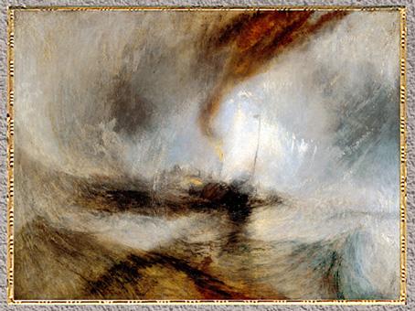 D'après Steam-Boat off a Harbour's Mouth, de William Turner, vers 1842, huile sur toile, XIXe siècle. (Marsailly/Blogostelle)