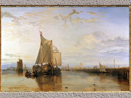 D'après Dort Packet-Boat de Rotterdam Becalmed, de William Turner, 1818, huile sur toile, XIXe siècle. (Marsailly/Blogostelle)