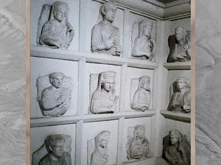 D'après des dalles et bustes funéraires, cité de Palmyre, Ier-IIIe siècle, Syrie. (Marsailly/Blogostelle)