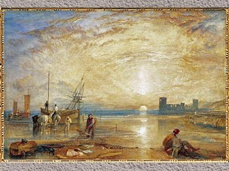 D'après Castle Flint, Pays de Galles du Nord, de Joseph Mallord William Turner, 1830-1835, aquarelle et crayon, XIXe siècle. (Marsailly/Blogostelle)