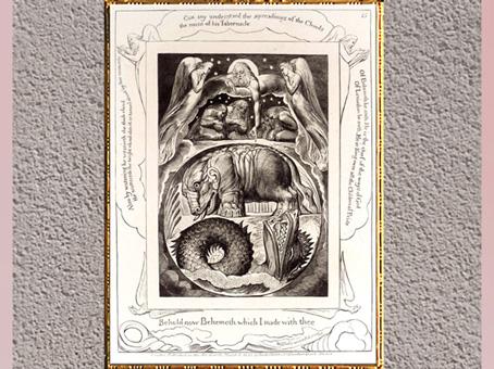 D'après Béhémoth et Léviathan, de William Blake, gravure, Livre de Job, 1825. (Marsailly/Blogostelle)