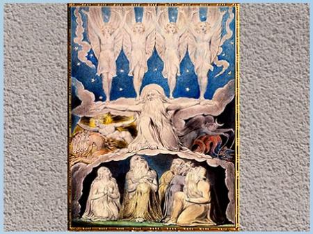 """D'après """"When the Morning Stars Sang Together"""", de William Blake, Livre de Job, 1804-1807, aquarelle, début XIXe siècle. (Marsailly/Blogostelle)"""
