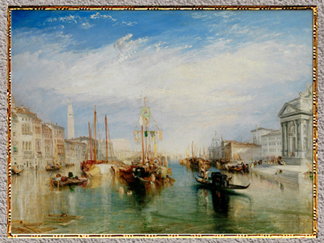 D'après Venice from the Porch of Madonna della Salut, William Turner, 1835, huile sur toile, XIXe siècle. (Marsailly/Blogostelle)