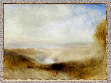 D'après Paysage avec une rivière et une baie dans le lointain, de William Turner, vers 1845, XIXe siècle. (Marsailly/Blogostelle)