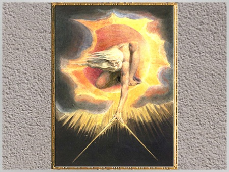 D'après The Ancient of Days, Europe a Prophecy, Frontispice, William Blake, 1794. (Marsailly/Blogostelle)