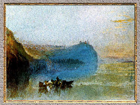 D'après Scene on the Loire, William Turner, 1830, aquarelle, XIXe siècle. (Marsailly/Blogostelle)
