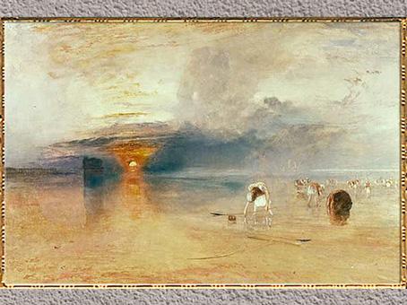 D'après Beaches of Calais (Les plages de Calais), de William Turner, aquarelle, 1832, XIXe siècle. (Marsailly/Blogostelle)