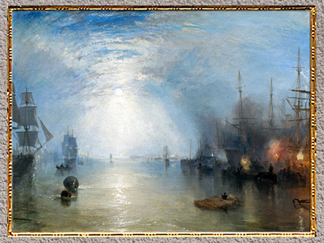 D'après Keelmen Heaving in Coals by Moonlight, William Turner, 1835, huile sur toile, XIXe siècle. (Marsailly/Blogostelle)