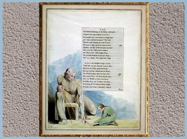 D'après Night VIII, La Géométrie, de William Blake, 1795-1797, Edward Young, fin XVIIIe siècle. (Marsailly/Blogostelle)