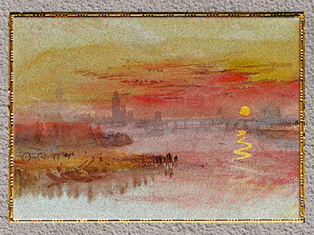 D'après The Scarlet Sunset, William Turner, vers 1830-1840, XIXe siècle. (Marsailly/Blogostelle)