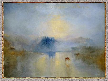 D'après Norham Castle Sunrise, William Turner 1835, huile sur toile, XIXe siècle. (Marsailly/Blogostelle)