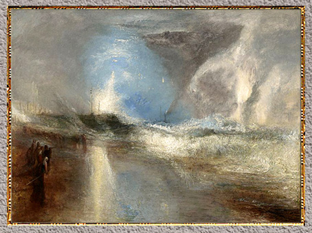 D'après Rockets and Blue Lights..., William Turner, 1840, huile sur toile, XIXe siècle. (Marsailly/Blogostelle)