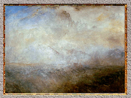 D'après Seascape with Distant Coast, William Turner, 1840, XIXe siècle. (Marsailly/Blogostelle)