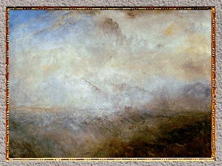 D'après Seascape with Distant Coast, William Turner, 1840, XIXe siècle. (Marsailly/Blogostelle)