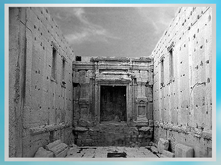D'après le vaste sanctuaire du temple de Baal, Ier-IIIe siècle, antique Palmyre, Syrie. (Marsailly/Blogostelle)