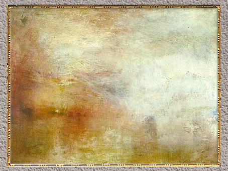 D'après Setting Sun on a Lake, William Turner, 1840, huile sur toile, XIXe siècle. (Marsailly/Blogostelle)
