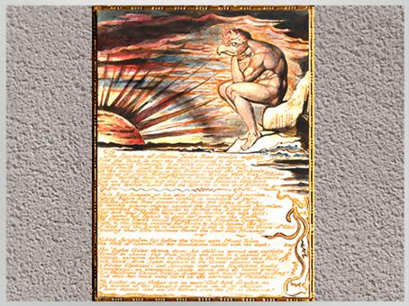 D'après Jerusalem, The Spectres of Albion..., Plate 78, de William Blake, 1804-1820, encre et aquarelle, début XIXe siècle. (Marsailly/Blogostelle)