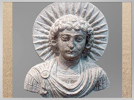 D'après Malakbêl, Messager de Baal ou Ange de Bêl, linteau aux aigles, temple de Baal, antique Palmyre, Syrie. (Marsailly/Blogostelle)