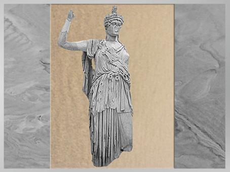 49 D'après Allât sous les traits d'Athéna, sanctuaire de la déesse Allât, Ier - IIIe siècle, antique Palmyre, Syrie. (Marsailly/Blogostelle)