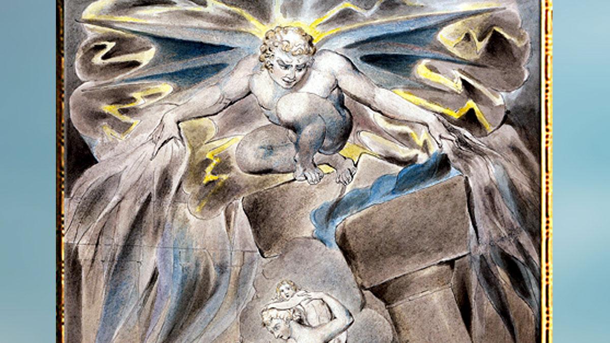 D'après l'art au18e siecle, William Blake, histoire de l'art. (Marsailly/Blogostelle)