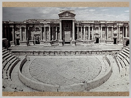 D'après les vestiges antiques de la cité de Palmyre, théâtre, Ier-IIIe siècle, Syrie (Marsailly/Blogostelle)