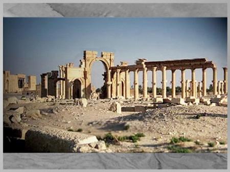 D'après les vestiges antiques de la cité de Palmyre, colonnade, Ier-IIIe siècle, Syrie (Marsailly/Blogostelle)