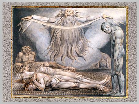 D'après The House of Death (La Maison de la Mort), de William Blake, 1795-1805, Paradise Lost, de Milton, plume, encre et aquarelle, fin XVIIIe-XIXe siècle. (Marsailly/Blogostelle)