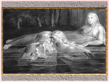 D'après Tiriel, Har, et Heva, de William Blake, poème Tiriel, 1789, encre de Chine, fin XVIIIe siècle. (Marsailly/Blogostelle)