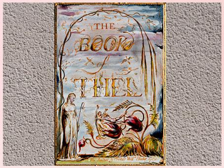 D'après The Book of Thel, précédé du livre de Tiriel, de William Blake, coloré à la main, vers 1789, fin XVIIIe siècle. (Marsailly/Blogostelle)