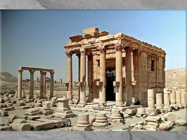 D'après le sanctuaire  de Baalshamin, vestiges, cité de Palmyre, Ier-IIIe siècle, Syrie. (Marsailly/Blogostelle)