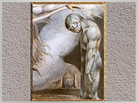 D'après The House of Death, de William Blake, détail, détail, fin XVIIIe siècle. (Marsailly/Blogostelle)