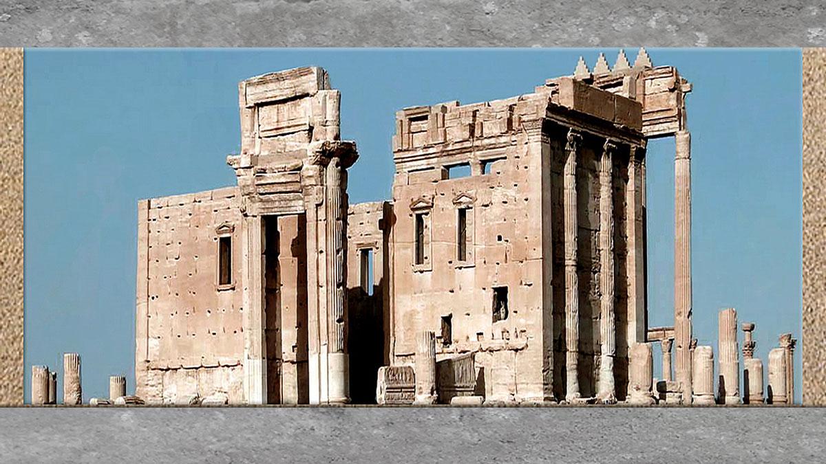 D'après les vestiges antiques de Palmyre. (Marsailly/Blogostelle)