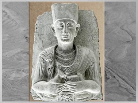 D'après le prêtre Zabdila, fils de Bar'a, fils de Zabbe'atech, buste funéraire, 176, calcaire, IIe siècle, antique Palmyre, Syrie. (Marsailly/Blogostelle)