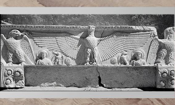 D'après le linteau aux Aigles, temple de Baalshamîn, Ier- IIIe siècle, antique Palmyre, Syrie. (Marsailly/Blogostelle)