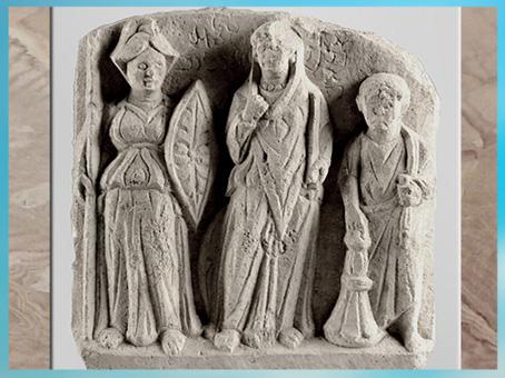 D'après les déesses Allât et Némésis, relief calcaire, fin IIe - début IIIe siècle, antique Palmyre, Syrie. (Marsailly/Blogostelle)