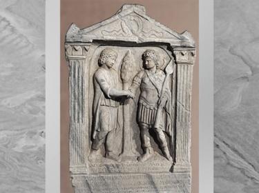 D'après un autel dédié à Yarhibôl, dieu-Soleil, et à Aglibôl, dieu-Lune, 235-236 apjc, marbre, IIIe siècle, antique Palmyre, Syrie. (Marsailly/Blogostelle)