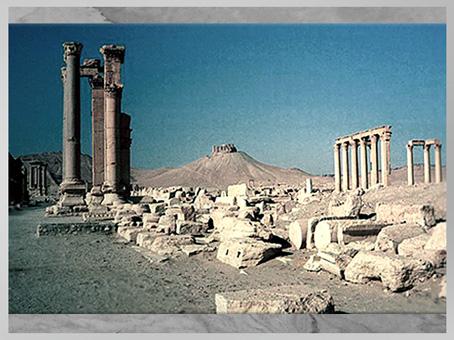 D'après les vestiges de la cité de Palmyre, Ier-IIIe siècle, Syrie. (Marsailly/Blogostelle)