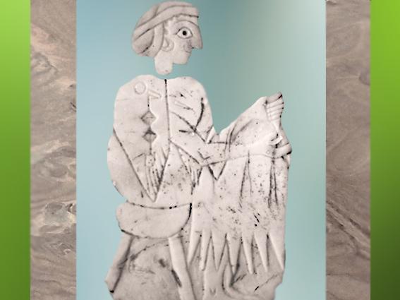 D'après une mosaïque de coquille, sommaire Mésopotamie, histoire de l'Art. (MarsaillyBlogostelle)