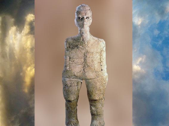 D'après une figurine, sommaire Mésopotamie, histoire de l'Art, (Marsailly/Blogostelle)