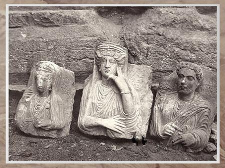 D'après les vestiges de Palmyre, bustes funéraires, Ier-IIIe siècle, Syrie. (Marsailly/Blogostelle)