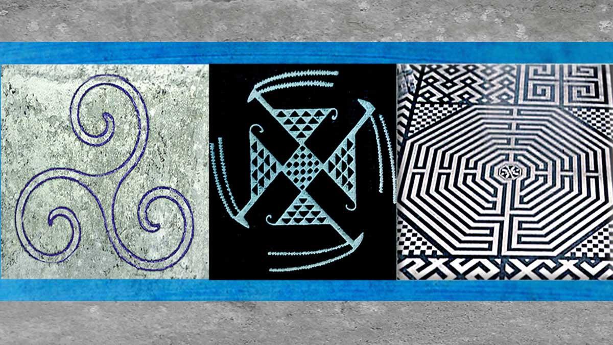 D'après les symboles triskèle, svastika et labyrinthe. (Marsailly/Blogostelle)