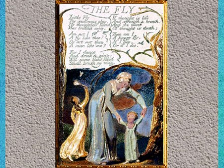 D'après Songs of Innocence and of Experience, The Fly, de William Blake, 1794, gravure et enluminure, fin XVIIIe siècle. (Marsailly/Blogostelle)