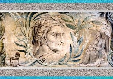 D'après Dante Alighieri, de William Blake, 1800-1803, encre et tempera sur toile, début XIXe siècle. (Marsailly/Blogostelle)