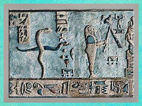 D'après deux serpents, mouvement du svastika, et figures célestes, Dendéra, temple d'Hathor, époque Ptolémaïque, Égypte ancienne. (Marsailly/Blogostelle)