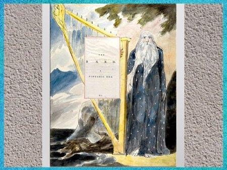 D'après The Bard (Le Barde), Les poèmes de Thomas Gray, de William Blake, vers 1797-1798, fin XVIIIe siècle. (Marsailly/Blogostelle)