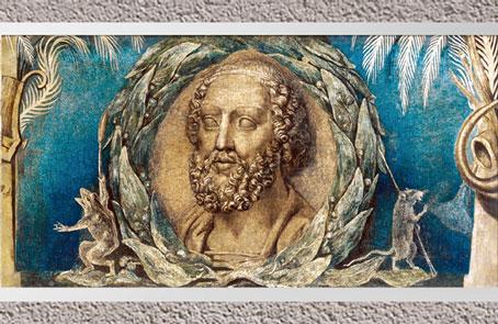 D'après Homère, de William Blake,  1800-1803, encre et tempera sur toile, début XIXe siècle. (Marsailly/Blogostelle)