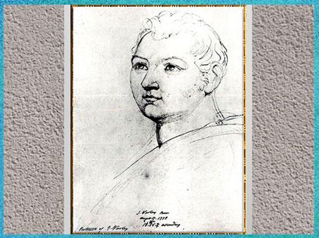 D'après John Varley, de William Blake, 1818, esquisse, craie et crayon, début XIXe. (Marsailly/Blogostelle)