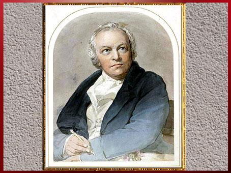 D'après un portrait de William Blake, de Thomas Phillips, 1807, aquarelle,  début XIXe siècle. (Marsailly/Blogostelle)